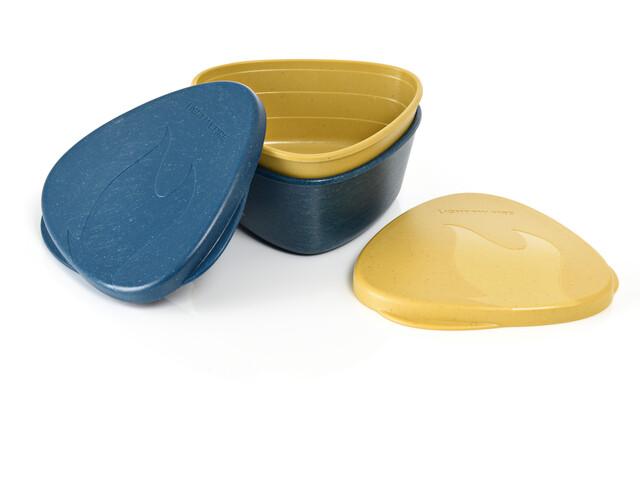 Light My Fire SnapBox Original BIO Pack de 2, azul/amarillo